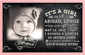 Vintage Baby Girl Birth Announcement Di 6012 Harrison Greetings