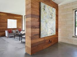 Small Picture Wooden wall panels add warmth to the room Decoist Wood