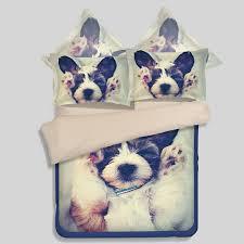lovely dog printed bedding set