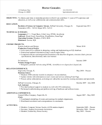 Skills To Put On A Job Resume Computer Science Resumes Templates