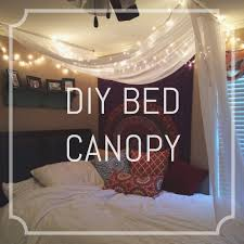 Terrific How To Make A Bed Canopy With Fairy Lights Photo Inspiration ...