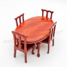 cheap wooden dollhouse furniture. Find More Furniture Toys Information About 1:12 Miniature Winered Dining Table And Chairs Set Cheap Wooden Dollhouse