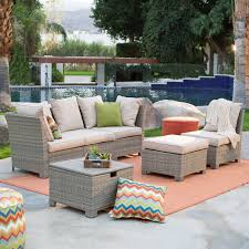 c coast south isle all weather wicker natural outdoor conversation set hayneedle