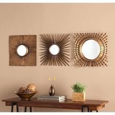 gold mirror sets blvd 3 piece decorative mirror set antique gold