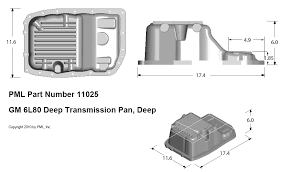 Pml Gm 6l80 6l80e Deep Transmission Pan