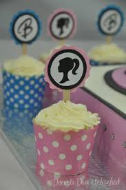 Cupcakes Barbie Design Barbie Birthday Cake And Cup Cakes Domestic Diva Unleashed