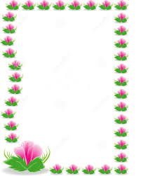 Nice Viewing Gallery For Pink And Green Flowers Borders Design Hd