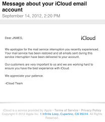 Customer Service Apology Email Apple Apologizes For Recent Icloud Email Downtime Says All
