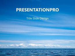 Water And Sky Powerpoint Template Background In Nature