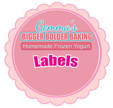 Recipe Labels Templates Homemade Frozen Yogurt Labels Template Things To Do In