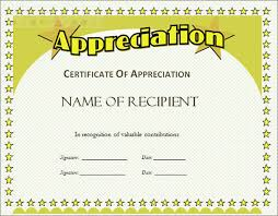 free templates for certificates of appreciation certificate of appreciation free template free templates for