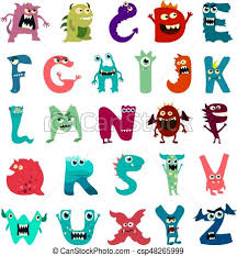 monster images for kids. Perfect Monster Cartoon Flat Monsters Alphabet Big Set Icons Colorful Monster Kids Toy  Cute Tongue Vector Throughout Images For