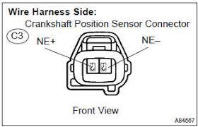 toyota corolla repair manual inspection procedure crankshaft Crank Sensor Wiring Subaru 2003 WRX 2 check harness and connector(crankshaft position sensor ecm)