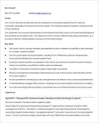 Example Of Business Analyst Resume Tj Collier Resume 2010