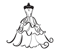 get dressed clipart black and white. Perfect Dressed Wedding Dress Clipart Free  ClipArt Best Throughout Get Dressed Black And White