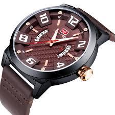 minifocus luxury leather wrap watch men 3d dial design quartz wrisches awesome brown waterproof watches whole mf0149g wrist watches