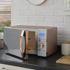 obsessed with rose gold this microwave is about to take kitchens to the next level