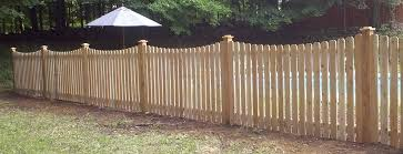 4 foot tall cedar wooden fence dog ear picket with dip top