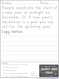 Handwritting Practice New Year Handwriting Practice Your Therapy Source