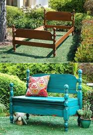 20 creative ideas and diy projects to repurpose old furniture bed turned