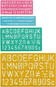 Near the letters, animals or objects that correspond to the letter can be depicted. Amazon Com Westcott Letter Stenciling Guides 4 Sizes Letter Stencils Office Products