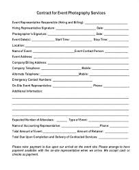 Photography Contracts Contract For Wedding Photography Services Simple Template