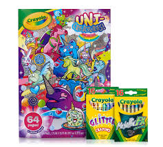 Unicorn Coloring Book Pages And Crayons Crayolacom Crayola