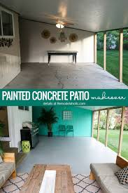 how to paint a concrete patio with