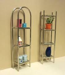 chrome glass shelving unit elf miniatures and shelves brackets for shelf