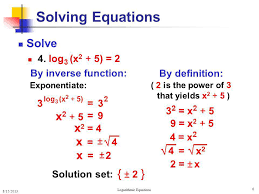 logarithmic equations ppt