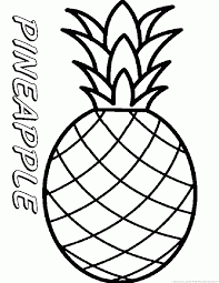 Small Picture Pineapple Coloring Pages