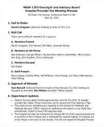 Format For Minutes Writing Minutes Format Example Meeting Agenda Minute Writing