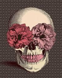 <b>Vintage</b> Skull Peonies Print maybesparrowsplace ETSY | <b>Floral skull</b> ...