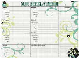 Free Printable Menu Planners Passionate Penny Pincher