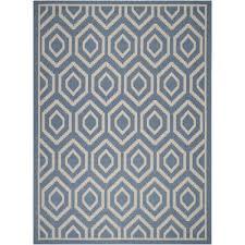 safavieh courtyard blue indoor outdoor rug 5 3 x 7 7 only