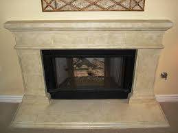 image of faux stone electric fireplace