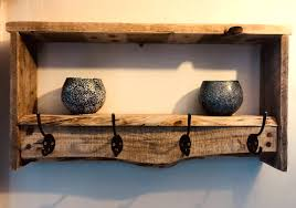 handmade coat rack rustic with decorative shelf large handmade coat rack