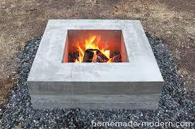 homemade modern diy concrete fire pit options