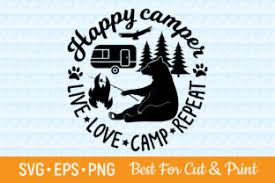 Free Camper Svg Cut File Free Svg Cut Files Create Your Diy Projects Using Your Cricut Explore Silhouette And More The Free Cut Files Include Svg Dxf Eps And Png Files