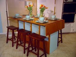 Dining Table With Storage Build A Bar Height Dining Table Hgtv