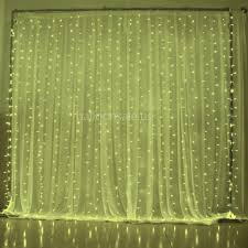 3m 18m led warm white led fairy curtain lights string for wedding backdrop clear