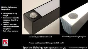 into lighting. sensor integration into our linear lighting infill panels or the lens which do you prefer dali pirintegration commerciallighting sensors hkr