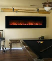 linear electric fireplace modern flames landscape full view electric fireplace
