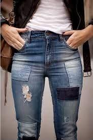 patchwork.. | Pantalones con parches, Jeans de moda, Parches jeans