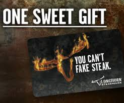 gift cards from longhorn steakhouse