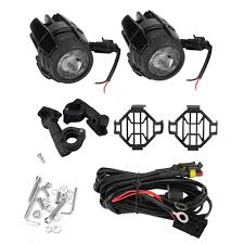Motorbike Fog Lights 40w Motorcycle Fog Lights Led Auxiliary Driving Lamp For Bmw R1200gs Adv F800gs F700gs F650gs Protect Guards With Wiring Harness