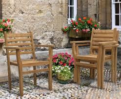 yale teak stacking garden chair
