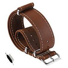 carty 20mm 22mm leather nato strap replacement watch band vintage crazy horse handmade leather watch strap zulu soft waterproof watch straps watch strap