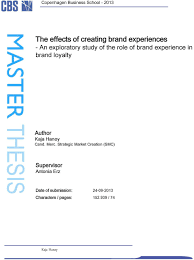 MASTER THESIS  The effects of creating brand experiences   An     loyalty Author Kaja Han  y Cand  Merc