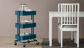 kitchen island table on wheels. With Its Traditional Look, Three Roomy Shelves And Wheels, You Can Use The RÅSKOG Kitchen Island Table On Wheels
